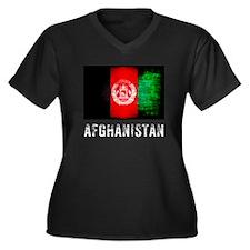 Vintage Afghanistan Women's Plus Size V-Neck Dark