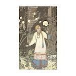 Bilibin's Vasilissa the Beautiful Sticker (Rectang