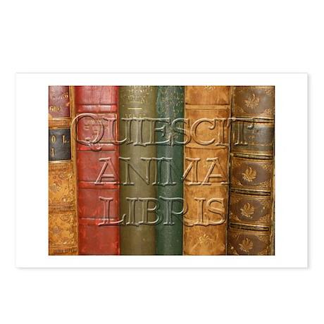 """""""Quiescit Anima Libris"""" Postcards (Package of 8)"""