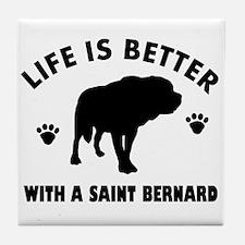 Saint bernard breed Design Tile Coaster