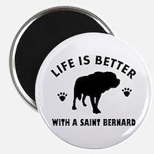 Saint bernard breed Design Magnet