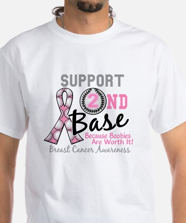 - Support 2nd Base Breast Cancer T-Shirt