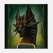 Beware The Dragon Tile Coaster