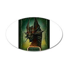 Beware The Dragon 22x14 Oval Wall Peel