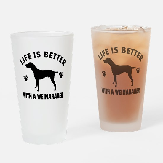 Weimaraner breed Design Drinking Glass