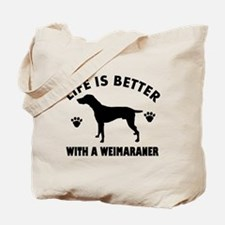 Weimaraner breed Design Tote Bag