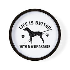 Weimaraner breed Design Wall Clock