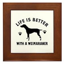 Weimaraner breed Design Framed Tile