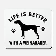 Weimaraner breed Design Mousepad