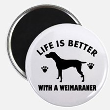 Weimaraner breed Design Magnet