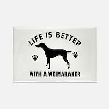 Weimaraner breed Design Rectangle Magnet