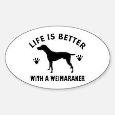 Weimaraner breed Design Decal