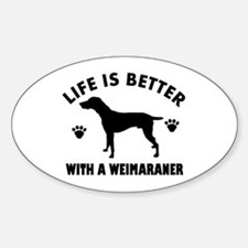Weimaraner breed Design Sticker (Oval)