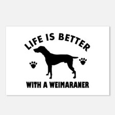 Weimaraner breed Design Postcards (Package of 8)