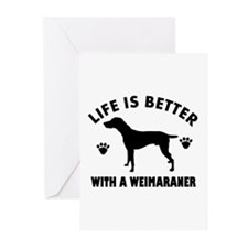Weimaraner breed Design Greeting Cards (Pk of 10)