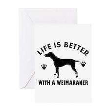 Weimaraner breed Design Greeting Card