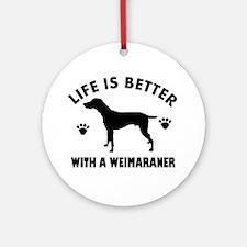 Weimaraner breed Design Ornament (Round)