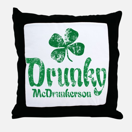 Drunky McD Throw Pillow