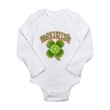 mexirish-faded Long Sleeve Infant Bodysuit