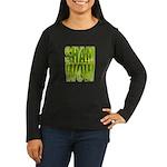 shamwow2-faded Women's Long Sleeve Dark T-Shirt