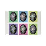 Pop Art Pysanka Rectangle Magnet (10 pack)