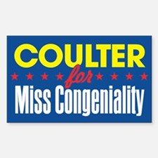 Miss Congeniality Rectangle Decal