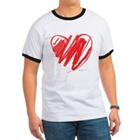 Crayon Heart Ringer T