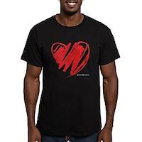Crayon Heart Men's Fitted T-Shirt (dark)