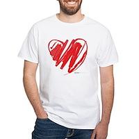 Crayon Heart White T-Shirt