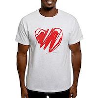 Crayon Heart Light T-Shirt