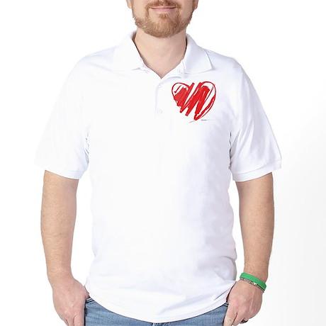 Crayon Heart Golf Shirt