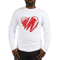 Crayon Heart Long Sleeve T-Shirt