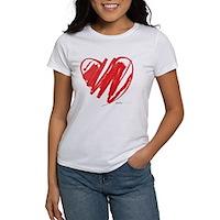 Crayon Heart Women's T-Shirt