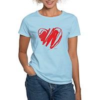 Crayon Heart Women's Light T-Shirt