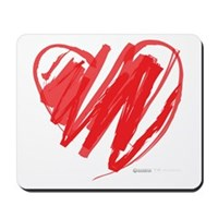 Crayon Heart Mousepad