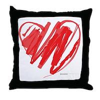 Crayon Heart Throw Pillow