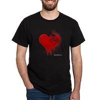 Emo Skull Heart Dark T-Shirt