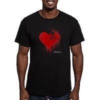 Emo Skull Heart Men's Fitted T-Shirt (dark)