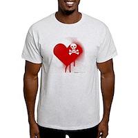 Emo Skull Heart Light T-Shirt