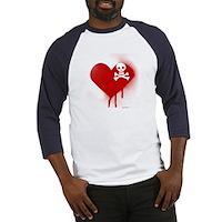 Emo Skull Heart Baseball Jersey