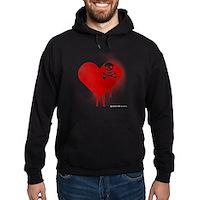 Emo Skull Heart Hoodie (dark)