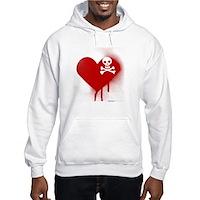 Emo Skull Heart Hooded Sweatshirt