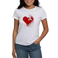 Emo Skull Heart Women's T-Shirt
