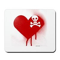 Emo Skull Heart Mousepad