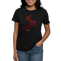 Falling Hearts Women's Dark T-Shirt