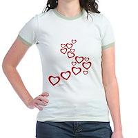 Falling Hearts Jr. Ringer T-Shirt