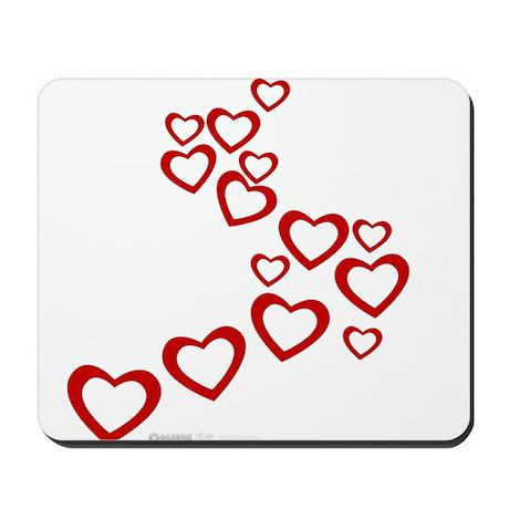 Falling Hearts Mousepad