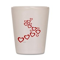 Falling Hearts Shot Glass