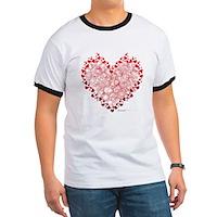 Heart Circles Ringer T