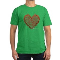 Heart Circles Men's Fitted T-Shirt (dark)